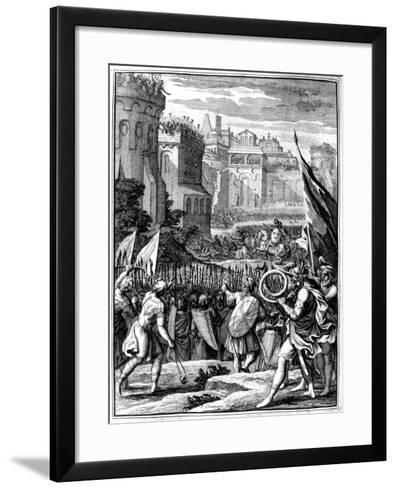 Forces under Alaric I, King of the Visigoths from 395, Sacking Rome, 410 (165)-Francois Chauveau-Framed Art Print