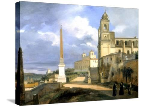 The Trinity of the Mounts and the Medicis Villa, Rome, 1808-Francois-Marius Granet-Stretched Canvas Print