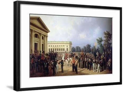 The Imperial Russian Guard in Tsarskoye Selo in 1832, 1841-Franz Kruger-Framed Art Print