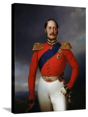 Portrait of Emperor Nicholas I, (1796-185), 1847-Franz Kruger-Stretched Canvas Print
