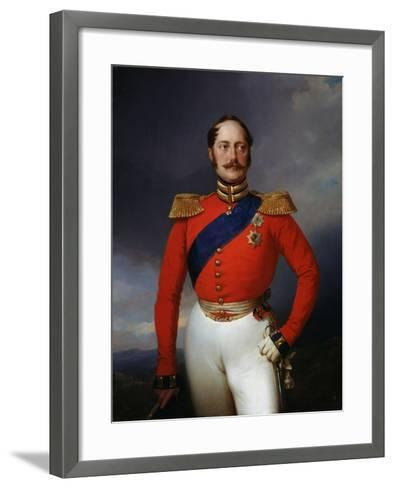 Portrait of Emperor Nicholas I, (1796-185), 1847-Franz Kruger-Framed Art Print