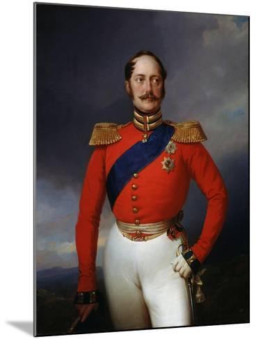 Portrait of Emperor Nicholas I, (1796-185), 1847-Franz Kruger-Mounted Giclee Print