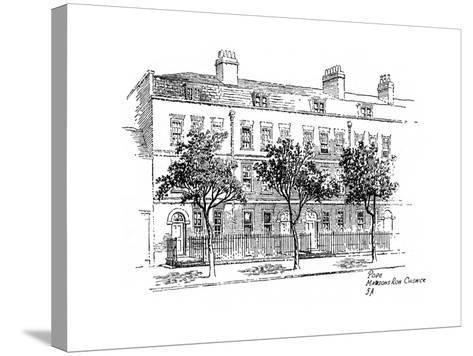 Alexander Pope, Mawson's Row, Chiswick, London, 1912-Frederick Adcock-Stretched Canvas Print