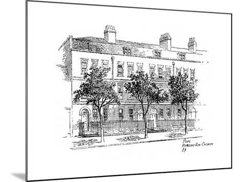Alexander Pope, Mawson's Row, Chiswick, London, 1912-Frederick Adcock-Mounted Giclee Print