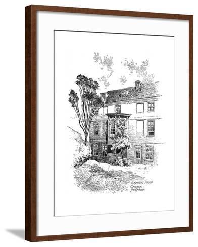 Hogarth's House, Chiswick, 1912-Frederick Adcock-Framed Art Print