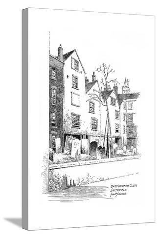 Bartholomew Close, Smithfield, London, 1912-Frederick Adcock-Stretched Canvas Print