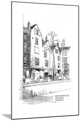 Bartholomew Close, Smithfield, London, 1912-Frederick Adcock-Mounted Giclee Print