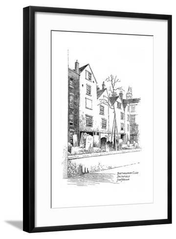Bartholomew Close, Smithfield, London, 1912-Frederick Adcock-Framed Art Print