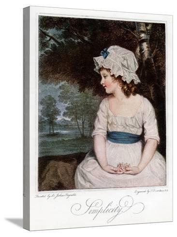 Simplicity, 1905-Francesco Bartolozzi-Stretched Canvas Print