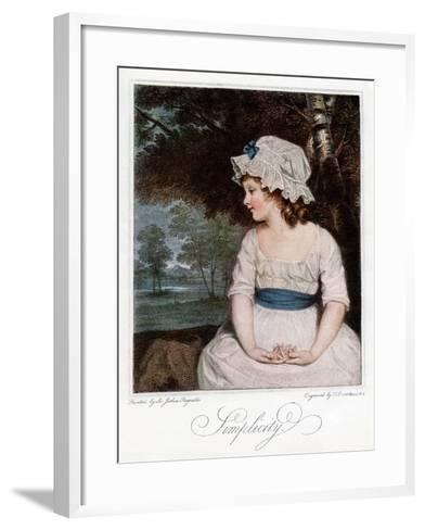Simplicity, 1905-Francesco Bartolozzi-Framed Art Print