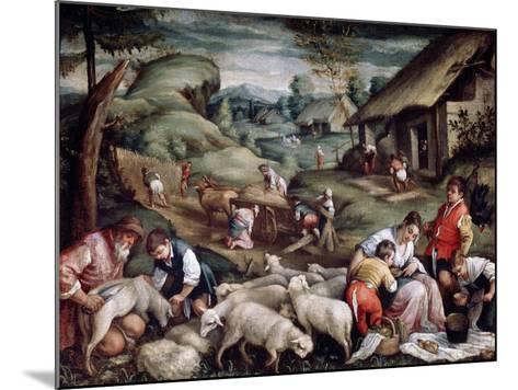Summer. Sheep Shearing, C1570-C1580-Francesco Bassano-Mounted Giclee Print