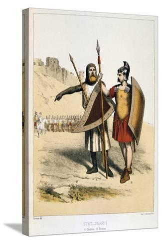 Stationarii, a Gaul and a Roman, C1887-Francois Cudet-Stretched Canvas Print