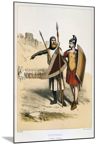 Stationarii, a Gaul and a Roman, C1887-Francois Cudet-Mounted Giclee Print
