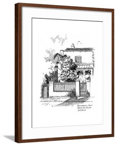 Samuel Richardson's House, North End, Fulham, London, 1912-Frederick Adcock-Framed Art Print