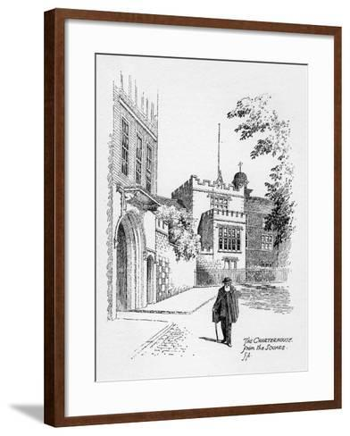 The Charterhouse from the Square, London, 1912-Frederick Adcock-Framed Art Print