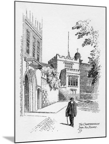 The Charterhouse from the Square, London, 1912-Frederick Adcock-Mounted Giclee Print