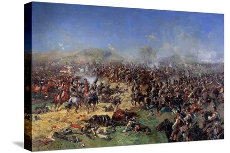The Battle of Borodino on August 26, 1812. Third French Attack, 1913-Franz Roubaud-Stretched Canvas Print