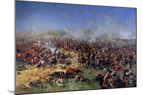 The Battle of Borodino on August 26, 1812. Third French Attack, 1913-Franz Roubaud-Mounted Giclee Print