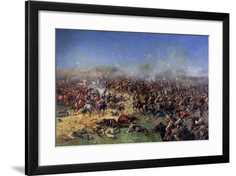 The Battle of Borodino on August 26, 1812. Third French Attack, 1913-Franz Roubaud-Framed Art Print