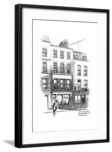 Percy Bysshe Shelley's House, Poland Street, Borough of Westminster, London, 1912-Frederick Adcock-Framed Art Print