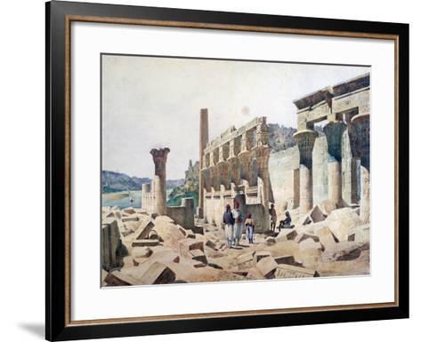 Temple of Venus Athor, Philae, 19th Century-FH Naudin-Framed Art Print