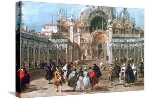 The Feast of Ascension in the Piazza San Marco, C1775-Francesco Guardi-Stretched Canvas Print