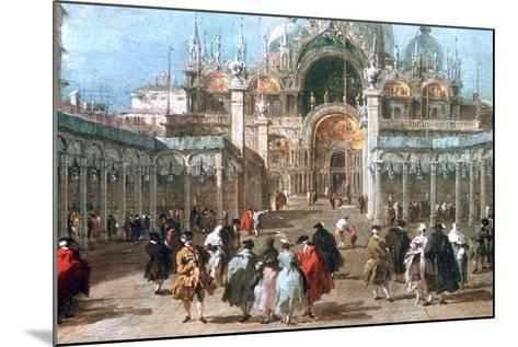 The Feast of Ascension in the Piazza San Marco, C1775-Francesco Guardi-Mounted Giclee Print