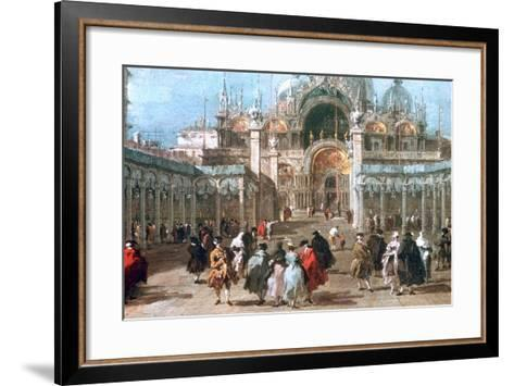 The Feast of Ascension in the Piazza San Marco, C1775-Francesco Guardi-Framed Art Print