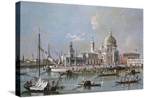 View of the Santa Maria Della Salute Church, 18th Century-Francesco Guardi-Stretched Canvas Print