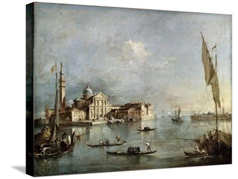 View of the San Giorgio Maggiore Island, Between 1765 and 1775-Francesco Guardi-Stretched Canvas Print