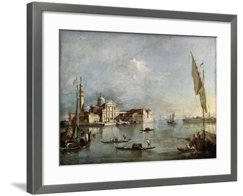 View of the San Giorgio Maggiore Island, Between 1765 and 1775-Francesco Guardi-Framed Art Print