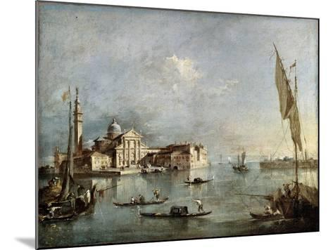 View of the San Giorgio Maggiore Island, Between 1765 and 1775-Francesco Guardi-Mounted Giclee Print