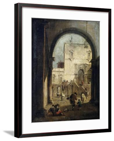 View of a Square and a Palace, Between 1775 and 1780-Francesco Guardi-Framed Art Print