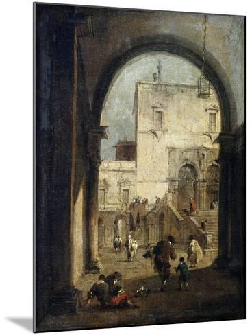 View of a Square and a Palace, Between 1775 and 1780-Francesco Guardi-Mounted Giclee Print