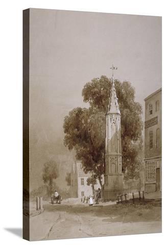 Tottenham High Road, London, C1820-George Harley-Stretched Canvas Print