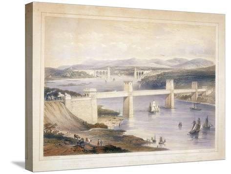 Britannia Tubular Bridge over the Menai Straits, Wales, C1850-C1852-George Hawkins-Stretched Canvas Print
