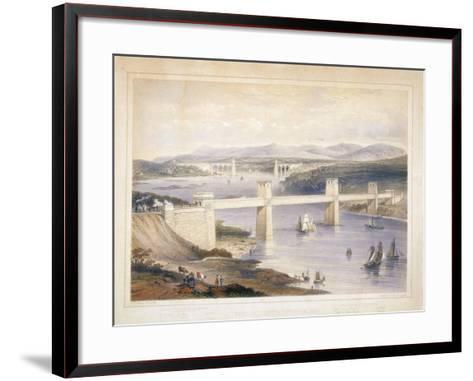 Britannia Tubular Bridge over the Menai Straits, Wales, C1850-C1852-George Hawkins-Framed Art Print