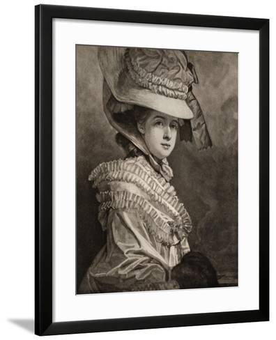 Miss Cumberland, Late 18th Century-George Romney-Framed Art Print
