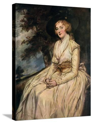 Charlotte, Lady Milnes 18th Century-George Romney-Stretched Canvas Print