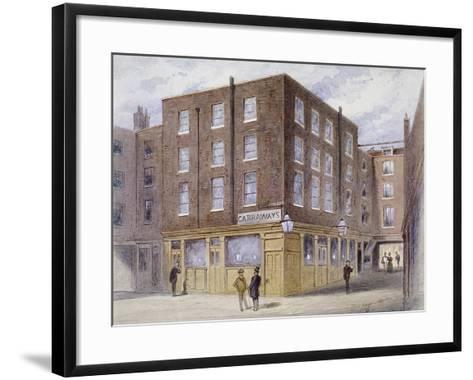 Change Alley, London, 1873-Frederick Napoleon Shepherd-Framed Art Print