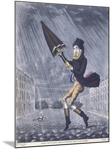 A Soaker or a Real Cat and Dog Day, 1825-G Hunt-Mounted Giclee Print