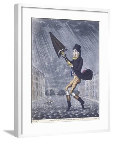 A Soaker or a Real Cat and Dog Day, 1825-G Hunt-Framed Art Print