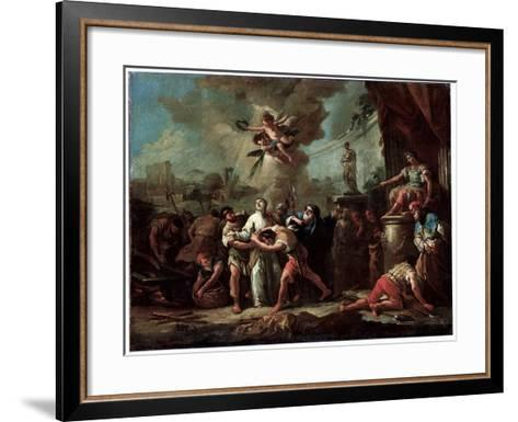 The Martyrdom of Saint Lawrence, 18th Century-Gaspare Diziani-Framed Art Print
