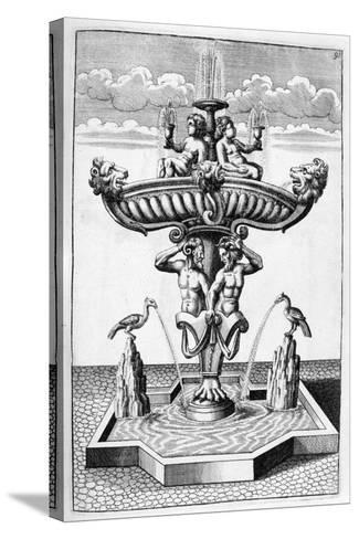 Ornamental Fountain Design, 1664-Georg Andreas Bockler-Stretched Canvas Print