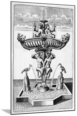 Ornamental Fountain Design, 1664-Georg Andreas Bockler-Mounted Giclee Print