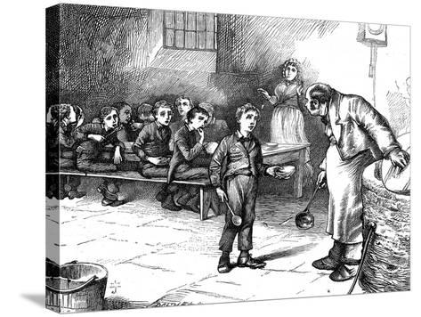 Scene from Oliver Twist by Charles Dickens, 1871-George Cruikshank-Stretched Canvas Print