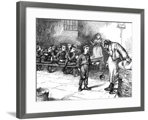 Scene from Oliver Twist by Charles Dickens, 1871-George Cruikshank-Framed Art Print