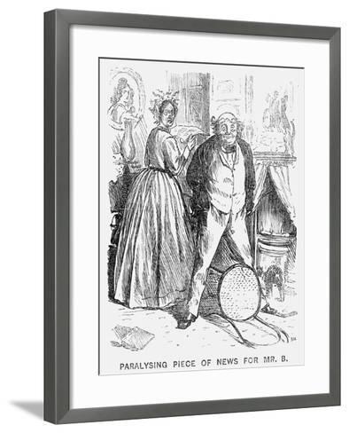 Paralysing Piece of News for Mr B, 1866-George Du Maurier-Framed Art Print