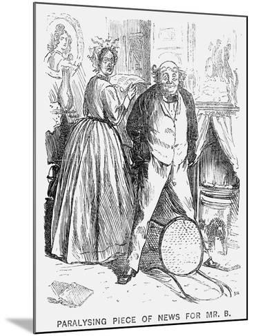 Paralysing Piece of News for Mr B, 1866-George Du Maurier-Mounted Giclee Print