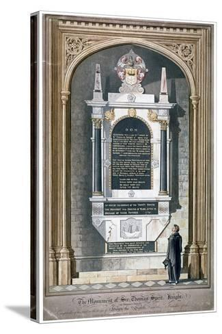 Monument to Sir Thomas Spert in St Dunstan's Church, Stepney, London, 1809-George Hawkins-Stretched Canvas Print